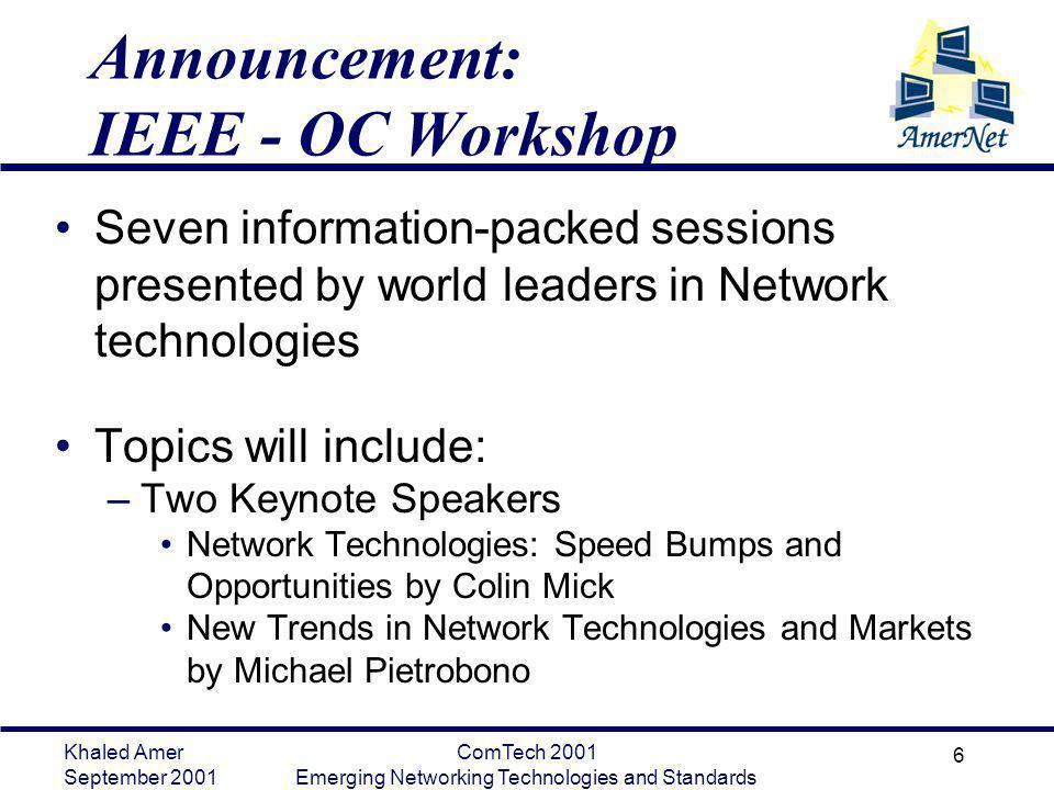 Announcement: IEEE - OC Workshop