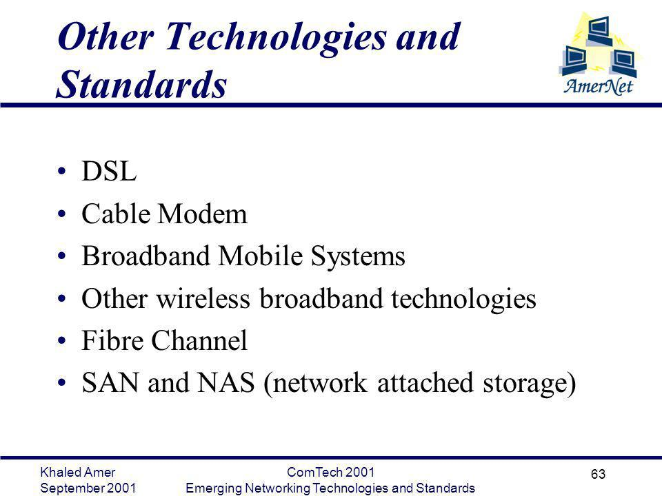 Other Technologies and Standards