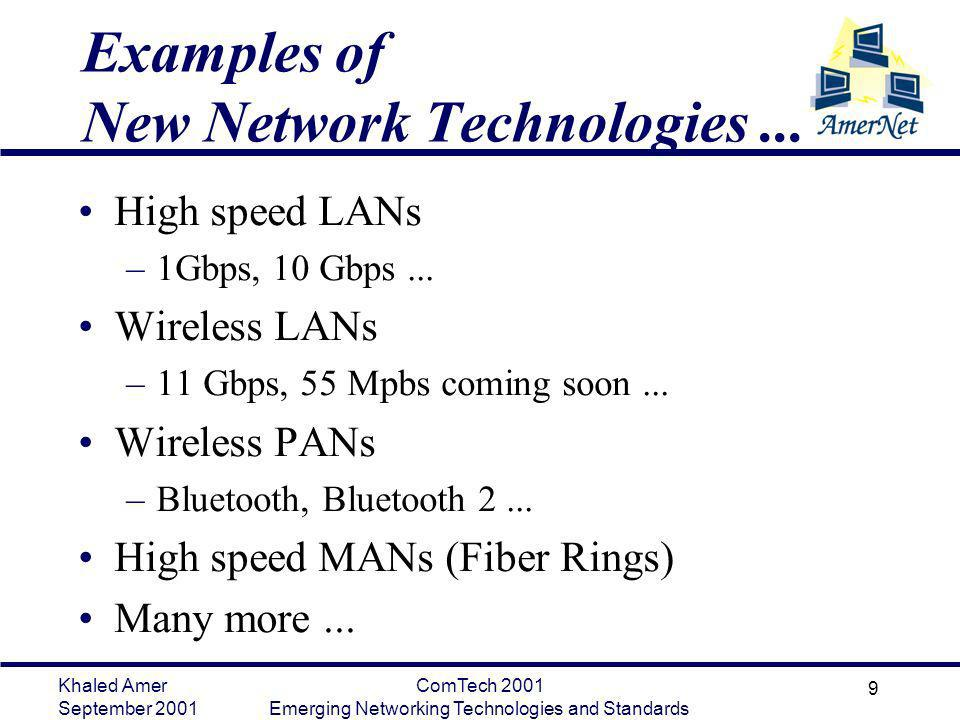 Examples of New Network Technologies ...