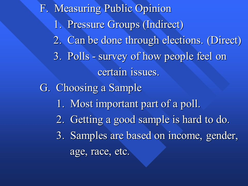 F. Measuring Public Opinion