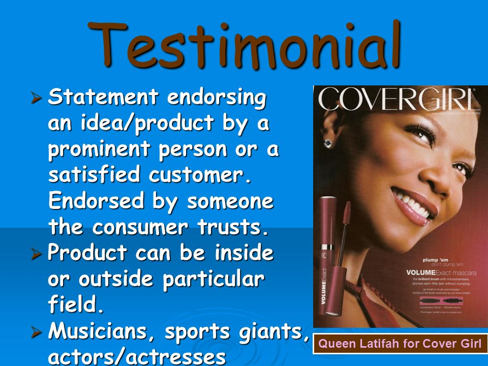 What Are Some Examples of Testimonial Propaganda?