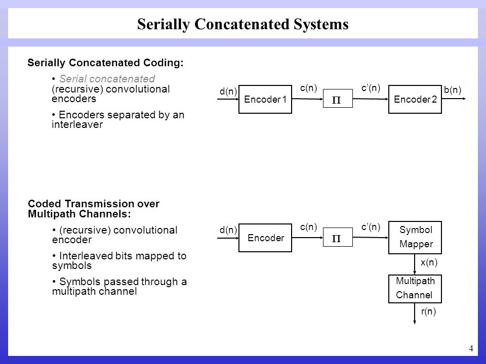 Serially Concatenated Systems