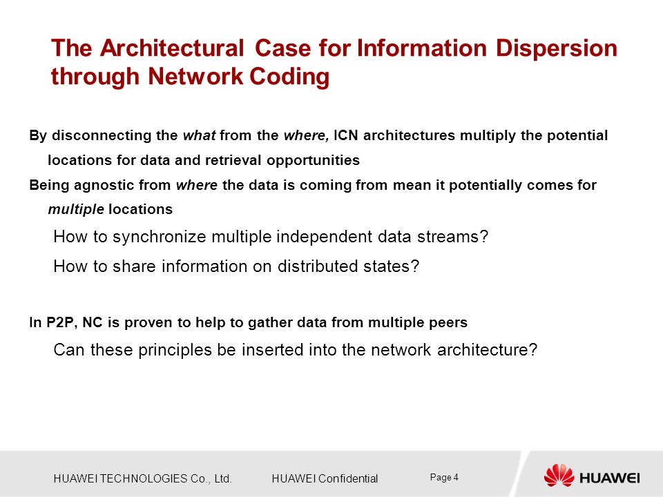 The Architectural Case for Information Dispersion through Network Coding
