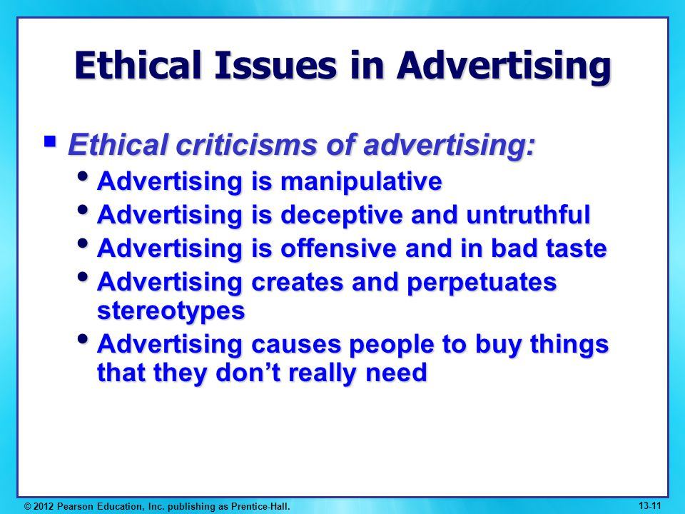Current Ethical Issues in Internet Marketing –