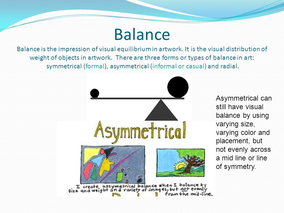 Visual Balance In Art : Back to the basics elements of art principles design