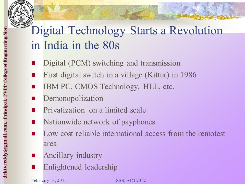 Digital Technology Starts a Revolution in India in the 80s