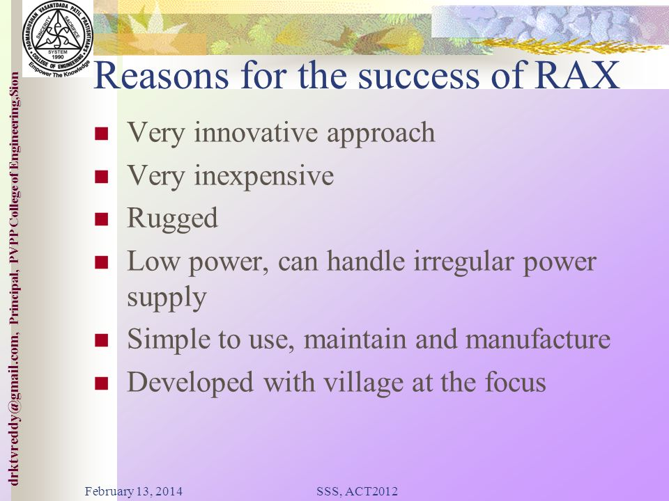 Reasons for the success of RAX