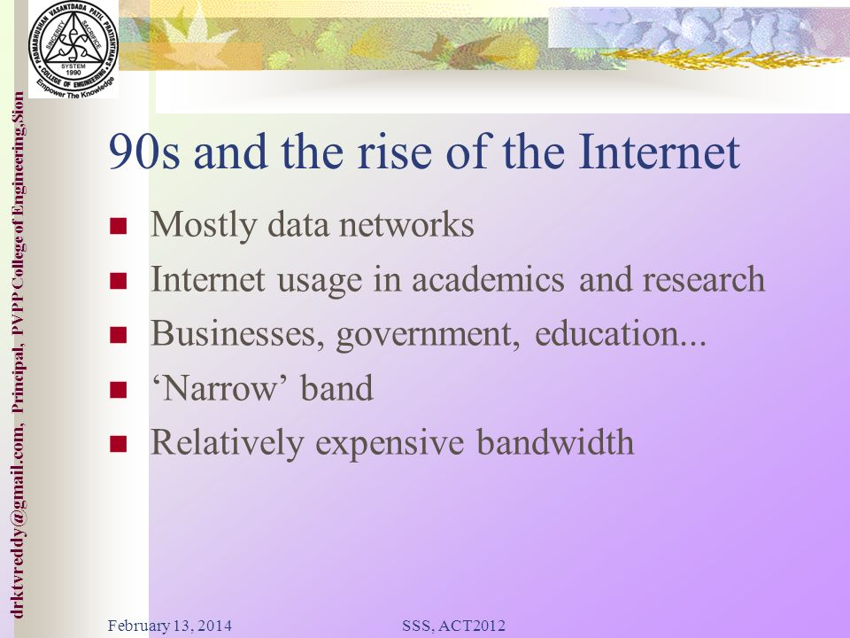 90s and the rise of the Internet