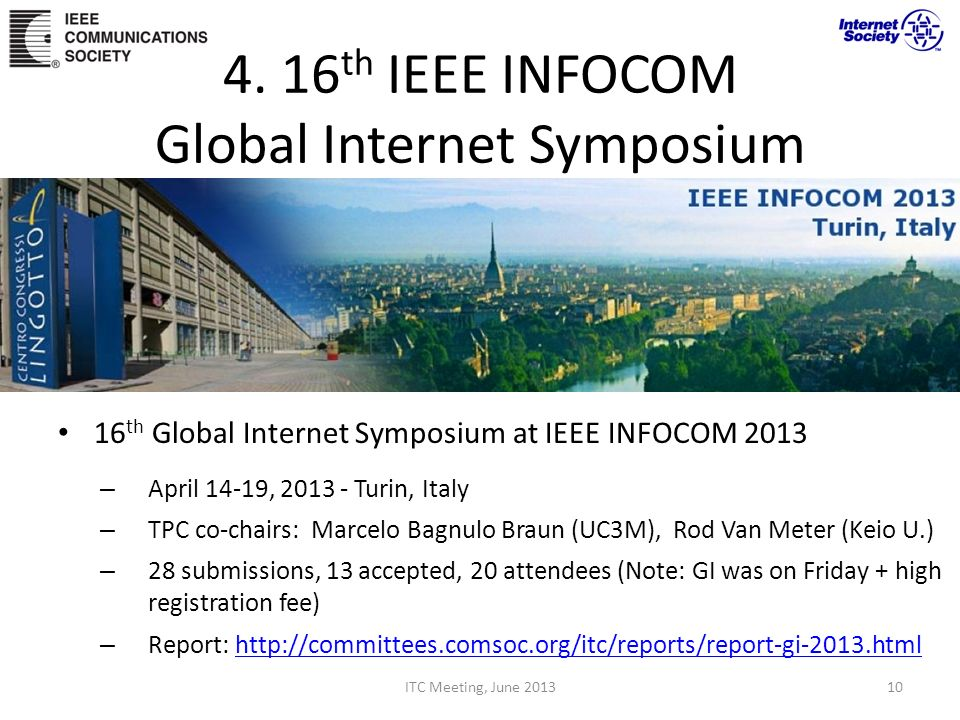 4. 16th IEEE INFOCOM Global Internet Symposium