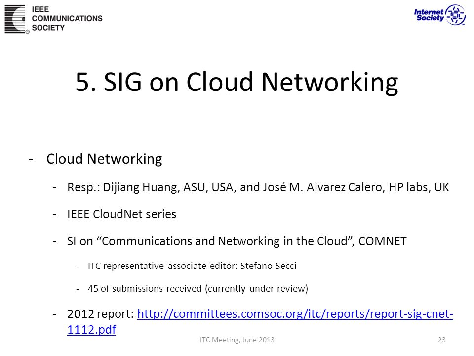 5. SIG on Cloud Networking