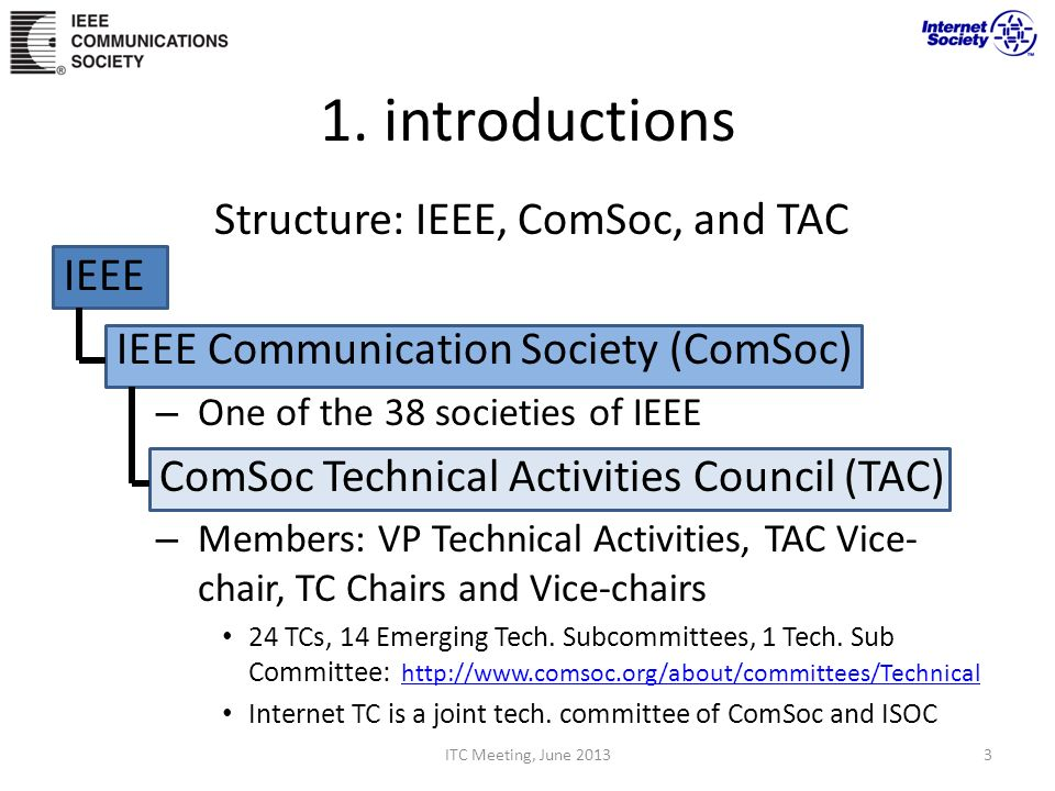 Structure: IEEE, ComSoc, and TAC