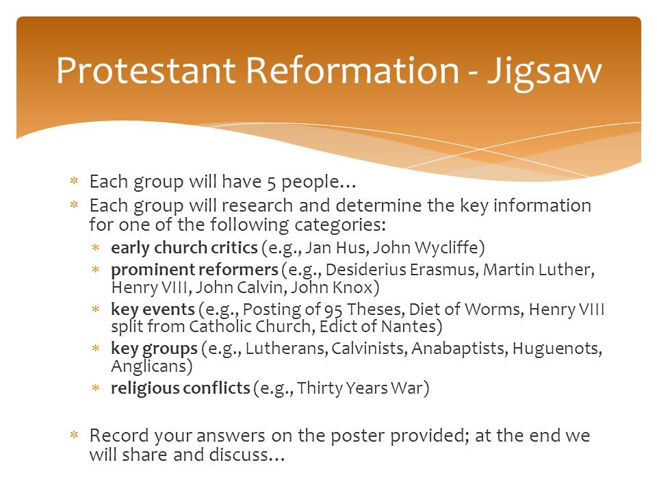 The renaissance ppt download protestant reformation jigsaw ccuart Choice Image