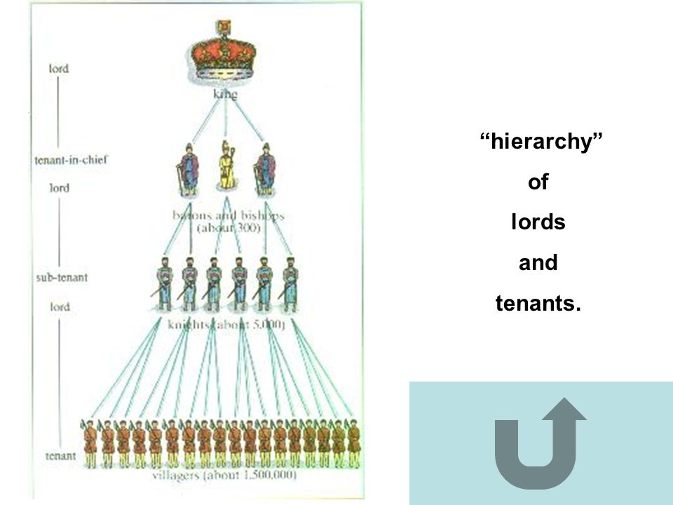 hierarchy of lords and tenants.