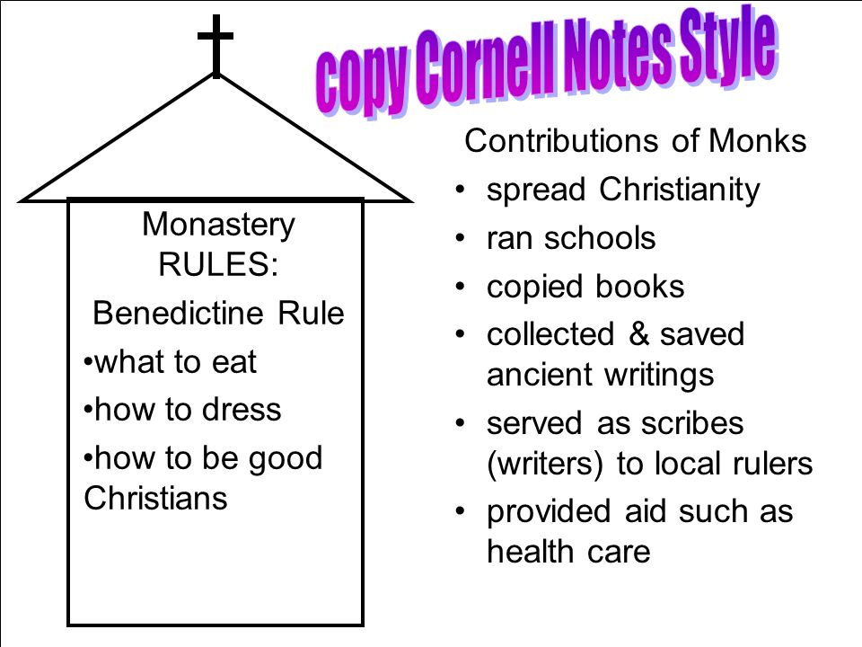 copy Cornell Notes Style