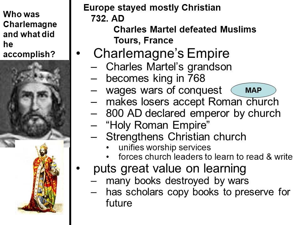 Charlemagne's Empire puts great value on learning