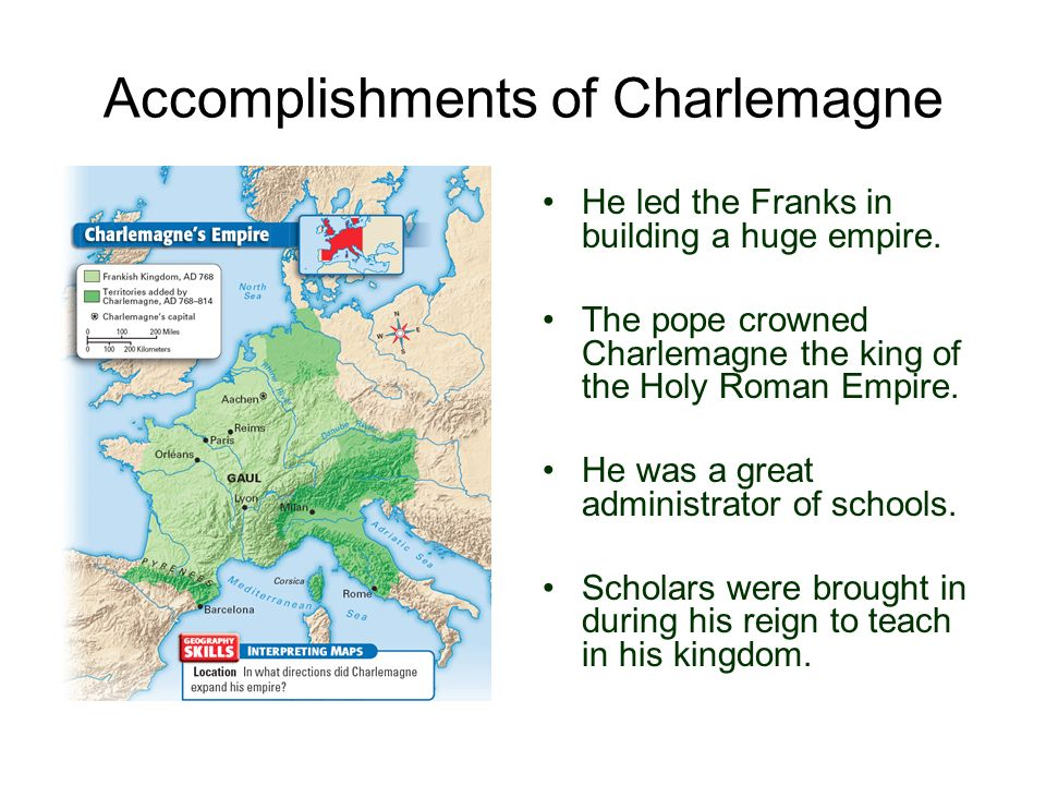Accomplishments of Charlemagne