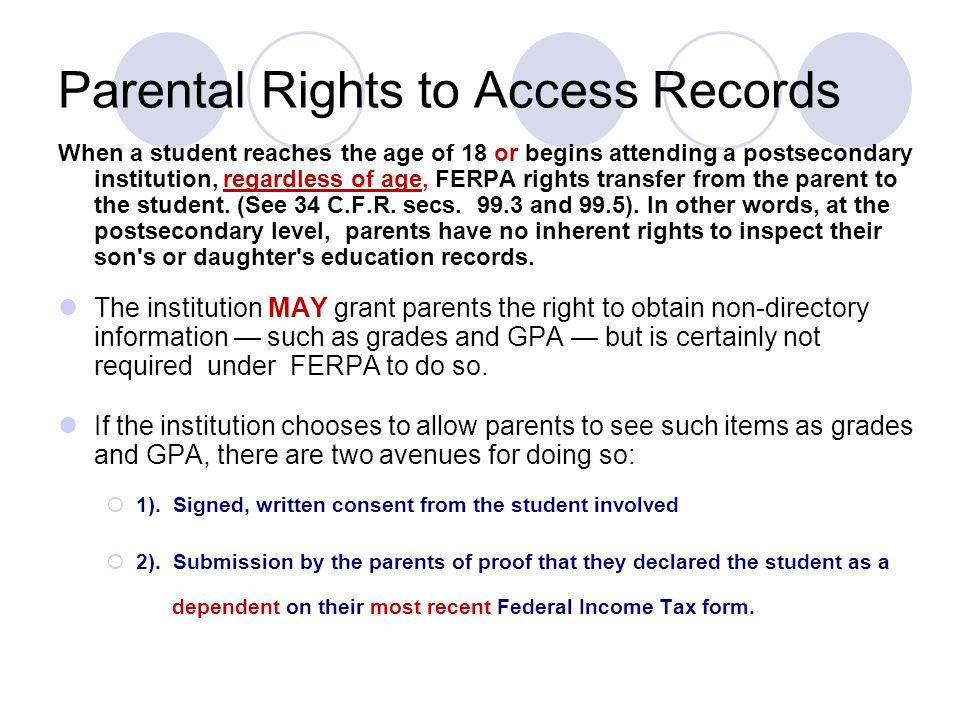 Welcome! FERPA Student Consent to Disclosure - ppt download