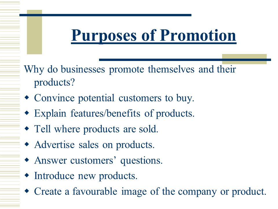 sales promotion review question Sales promotion review questions 1 define sales promotion what are the two main categories of sales promotions sales promotions consist of all the incentives.