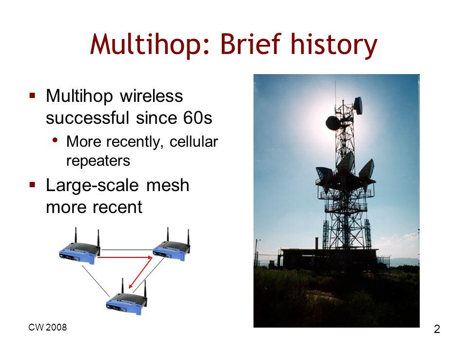 Multihop: Brief history