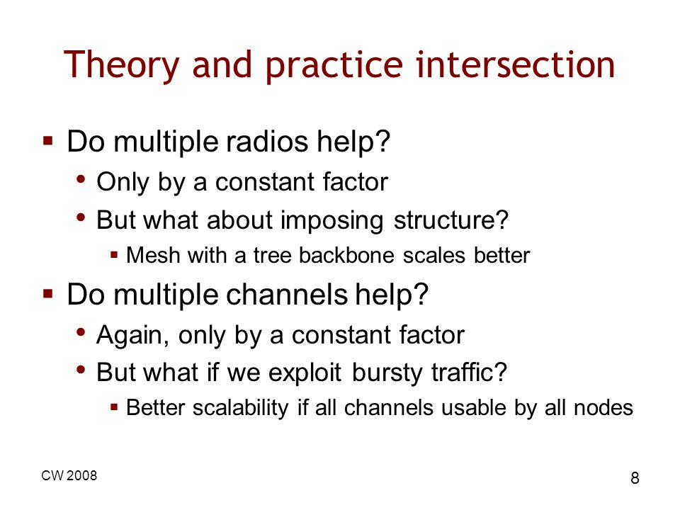 Theory and practice intersection