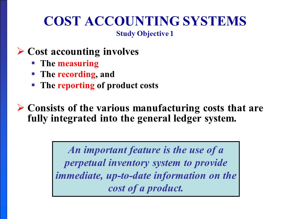 job cost accounting systems Cost accounting and cost accounting systems in health care organizations by mark e toso, cpa, msba job order costing and process costing systems.