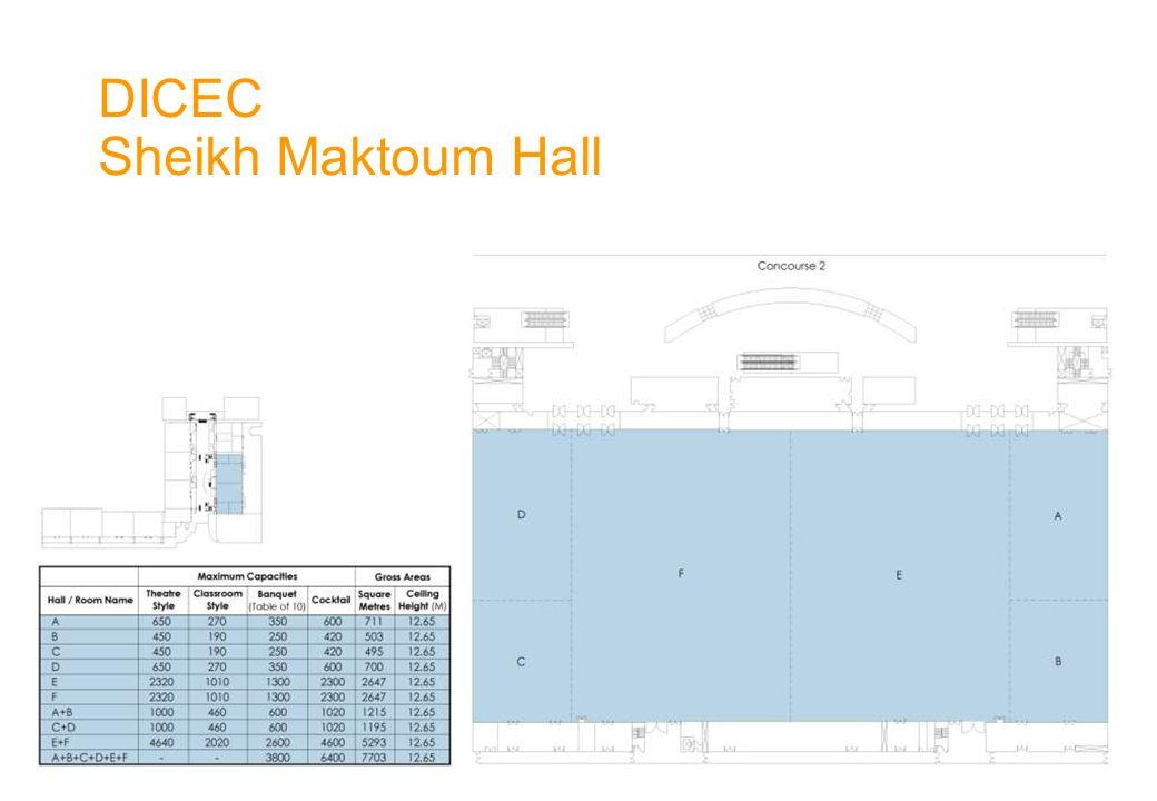 DICEC Sheikh Maktoum Hall