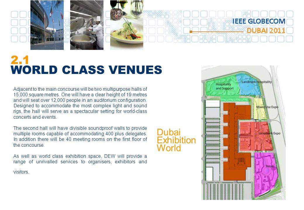 2.1 WORLD CLASS VENUES Dubai Exhibition World