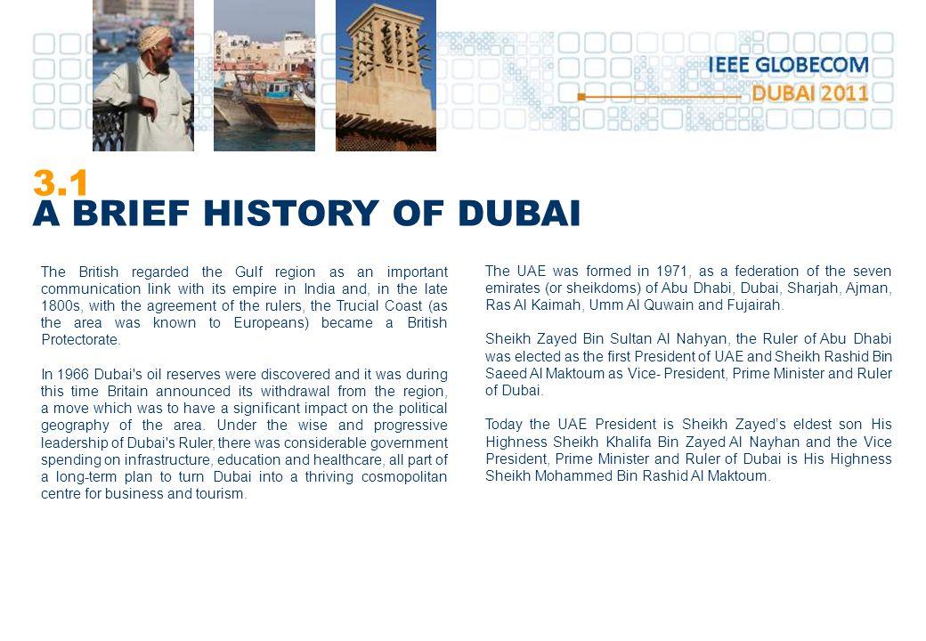 3.1 A BRIEF HISTORY OF DUBAI