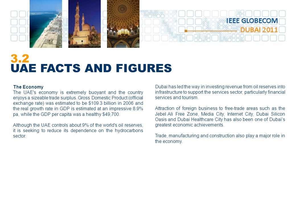 3.2 UAE FACTS AND FIGURES The Economy
