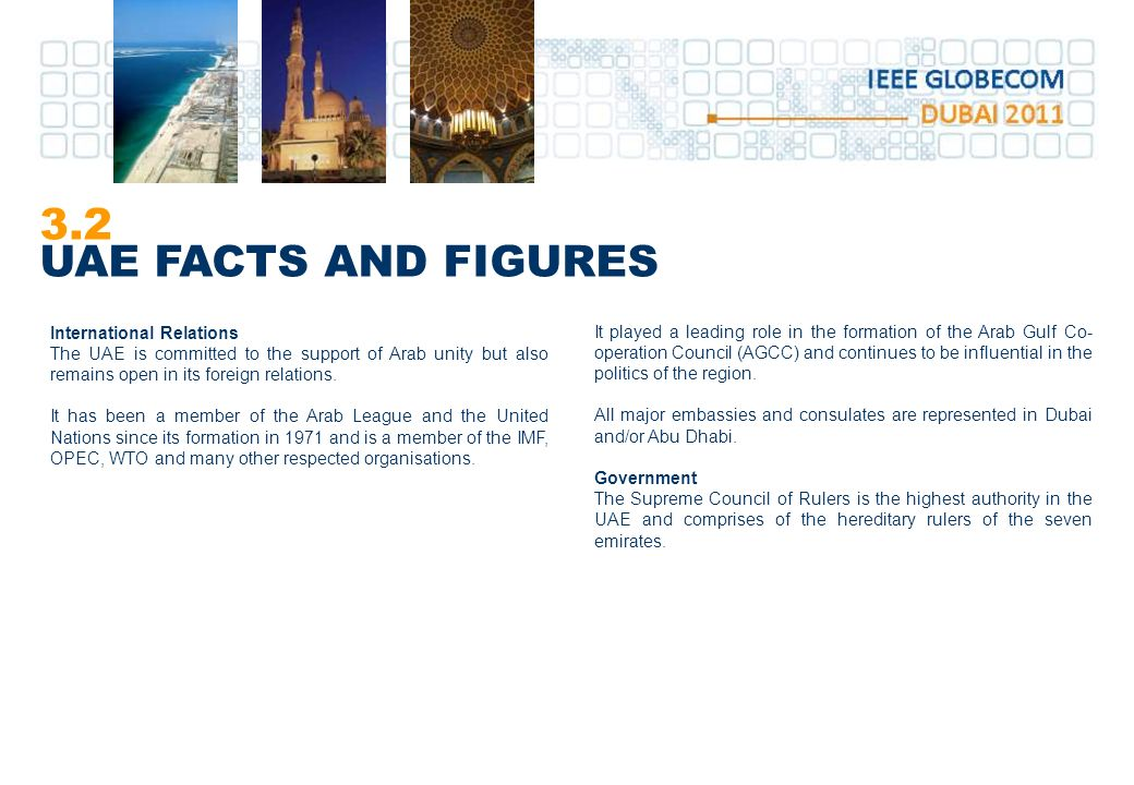 3.2 UAE FACTS AND FIGURES International Relations