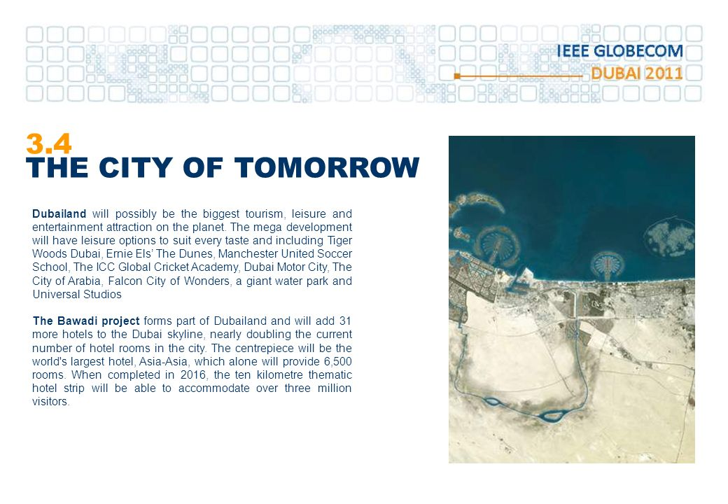 3.4 THE CITY OF TOMORROW