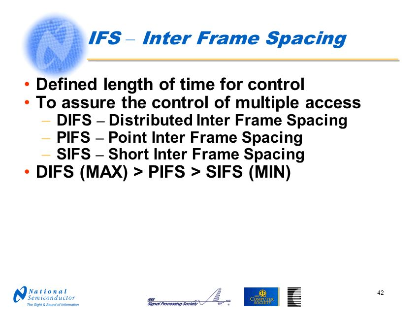 IFS – Inter Frame Spacing