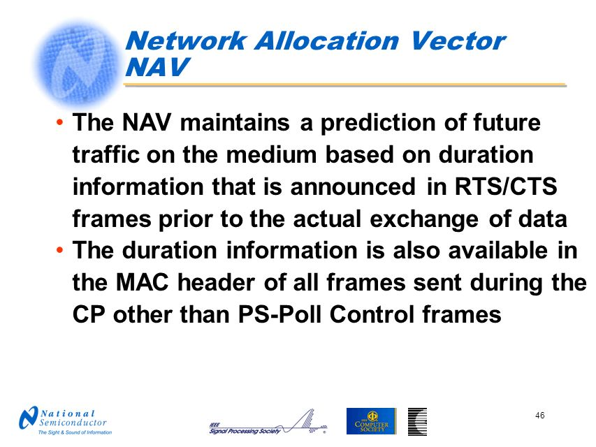 Network Allocation Vector NAV