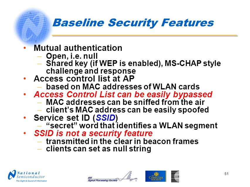 Baseline Security Features
