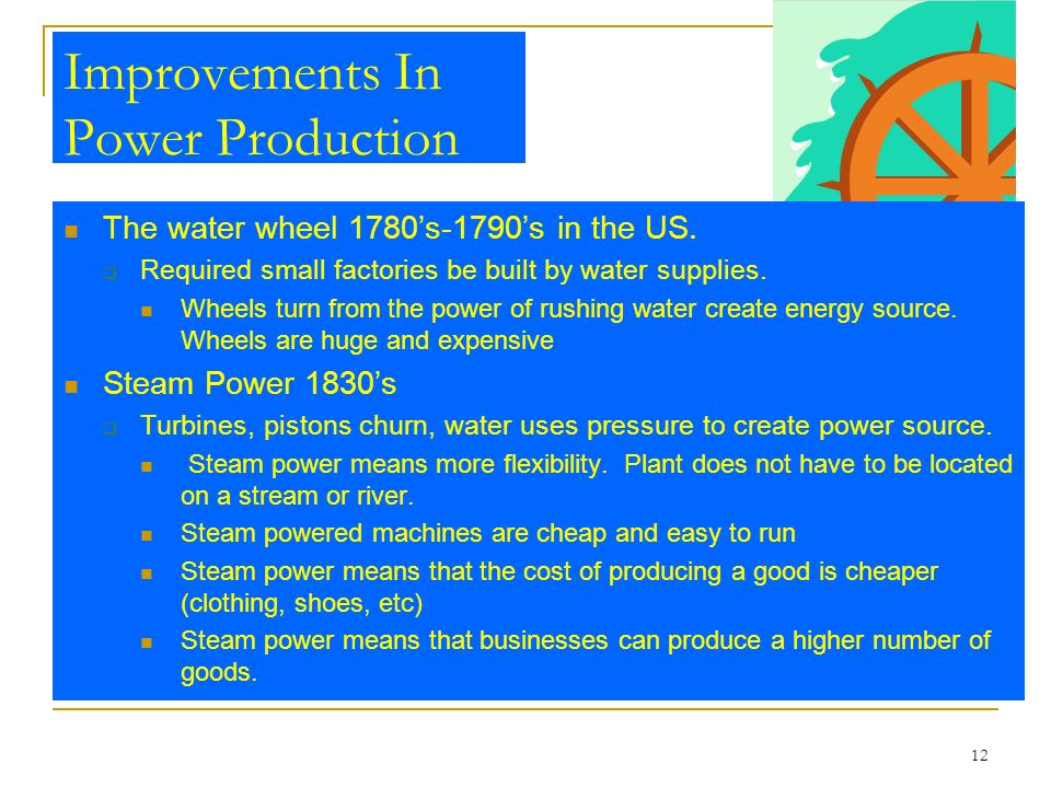 Improvements In Power Production
