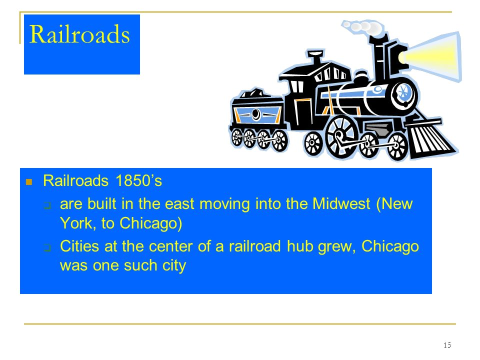 Railroads Railroads 1850's