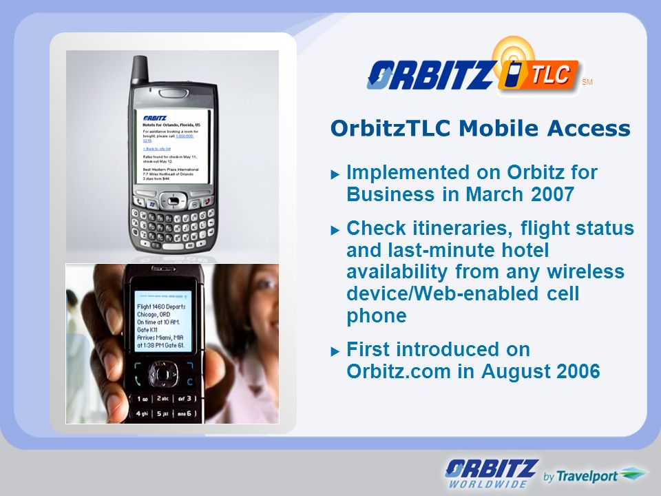 OrbitzTLC Mobile Access
