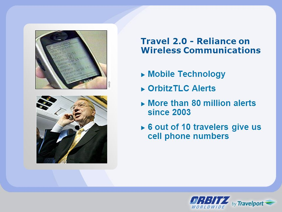 Travel 2.0 - Reliance on Wireless Communications