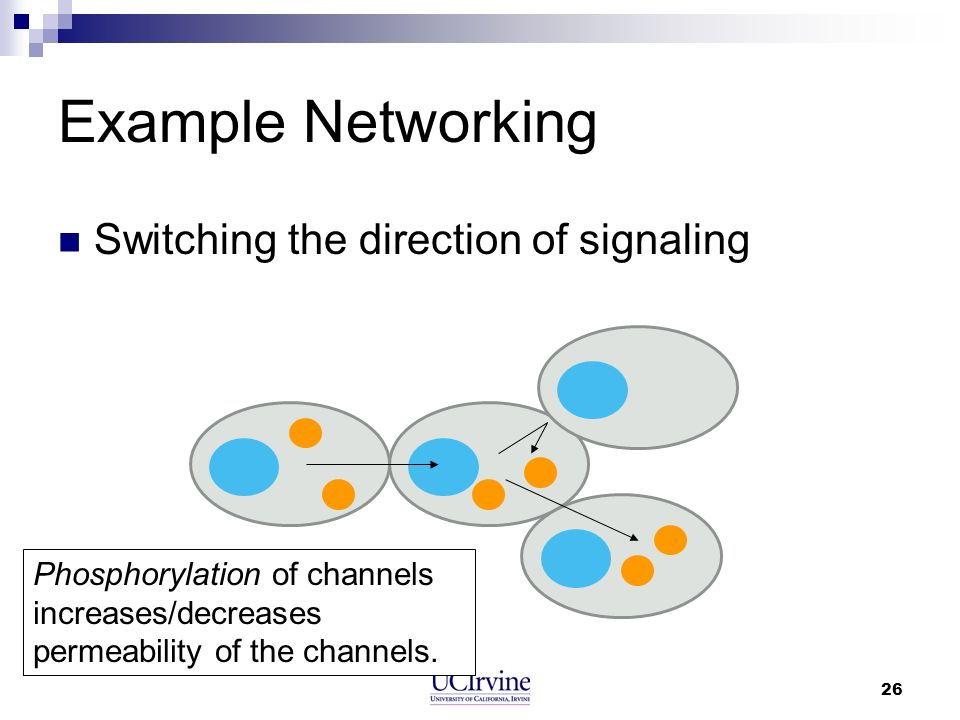 Example Networking Switching the direction of signaling