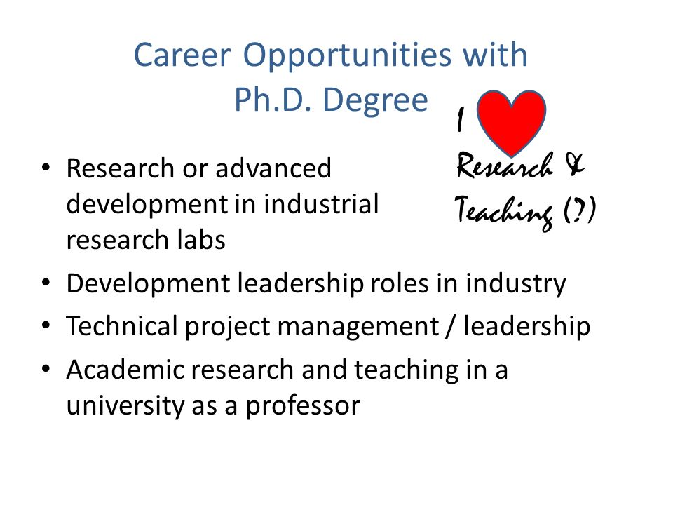 Career Opportunities with Ph.D. Degree