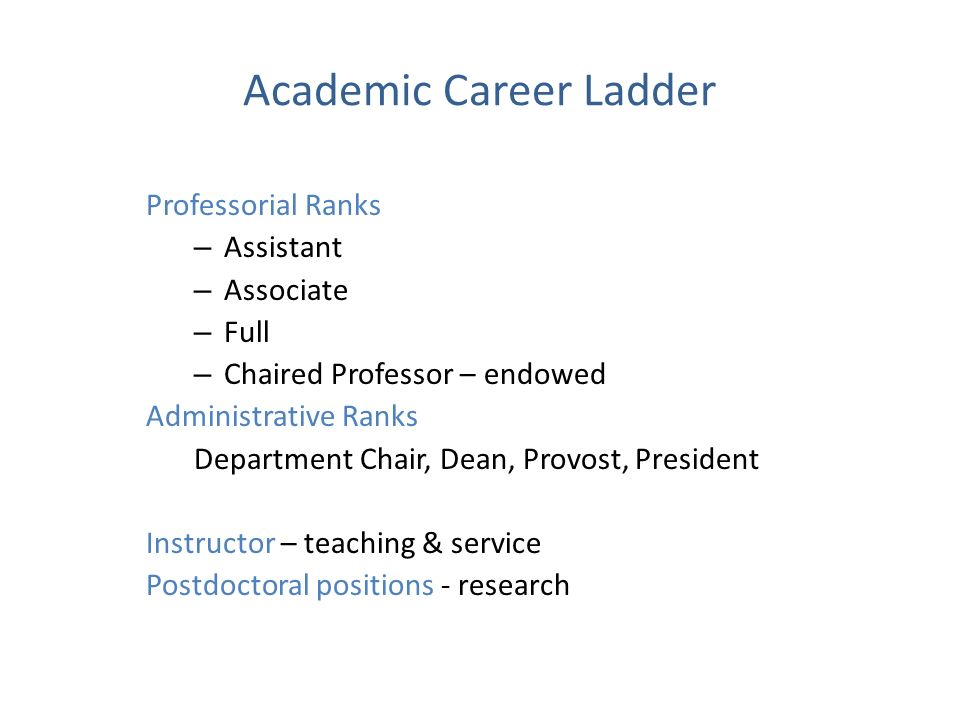 Academic Career Ladder