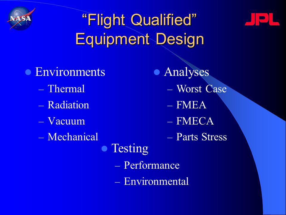 Flight Qualified Equipment Design