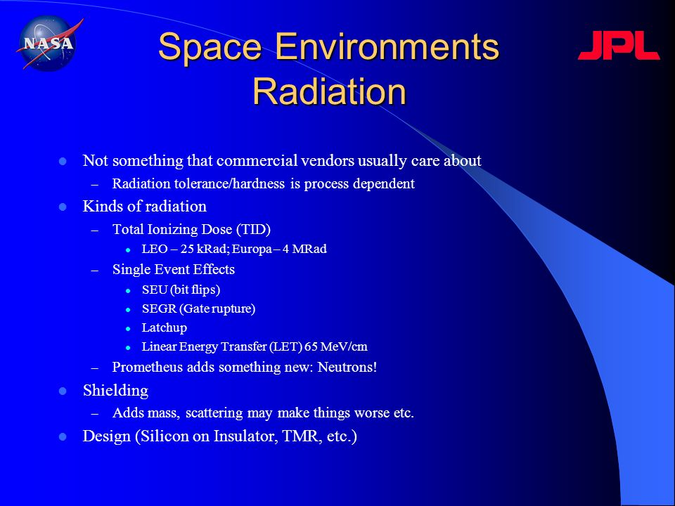 Space Environments Radiation
