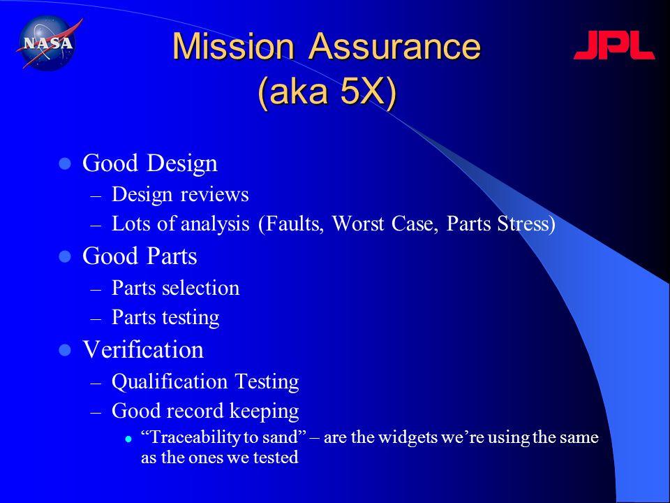 Mission Assurance (aka 5X)
