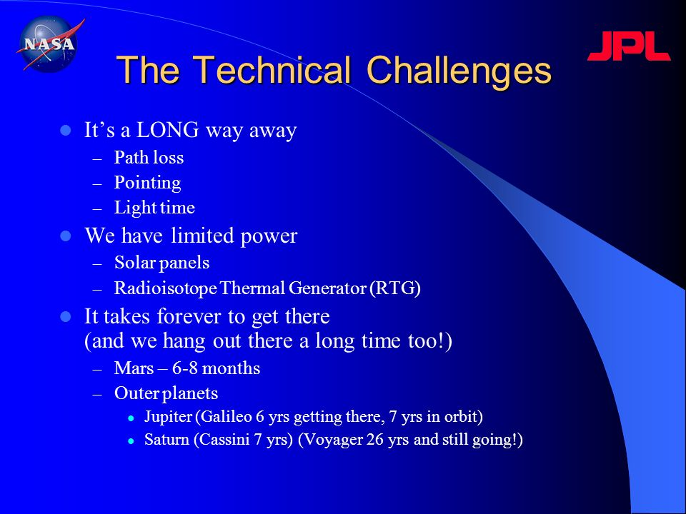 The Technical Challenges
