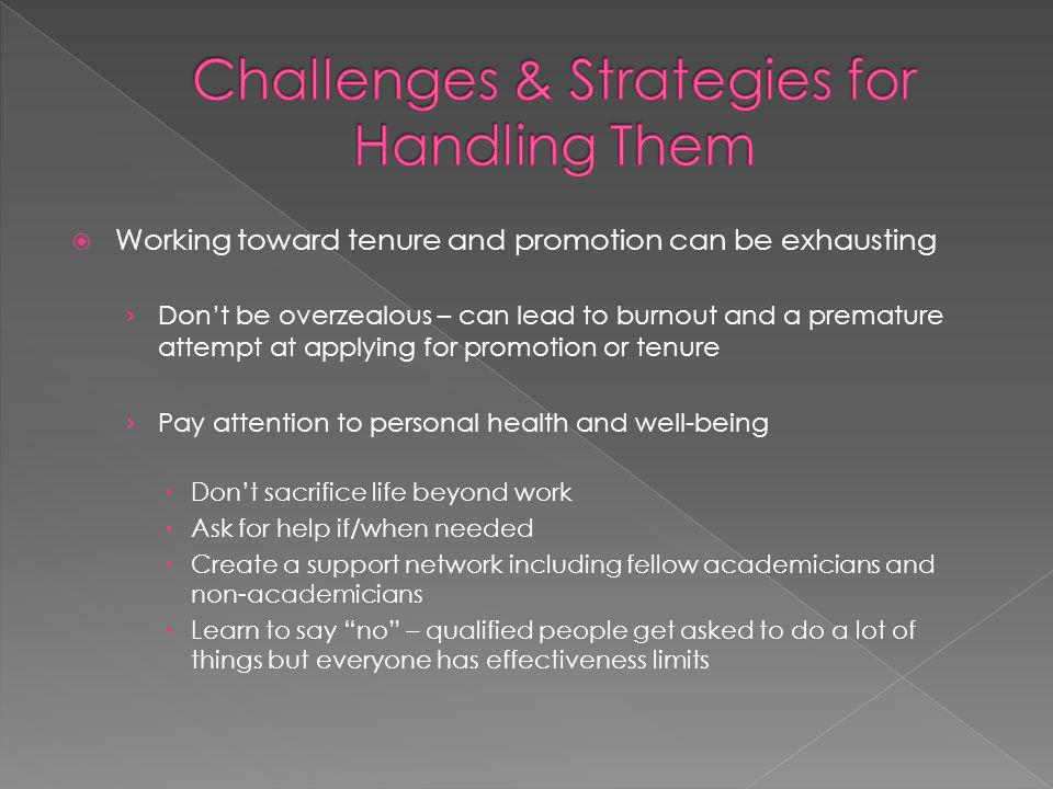 Challenges & Strategies for Handling Them