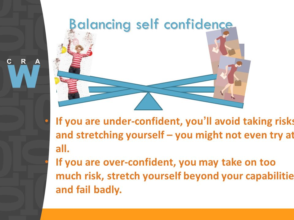 Balancing self confidence