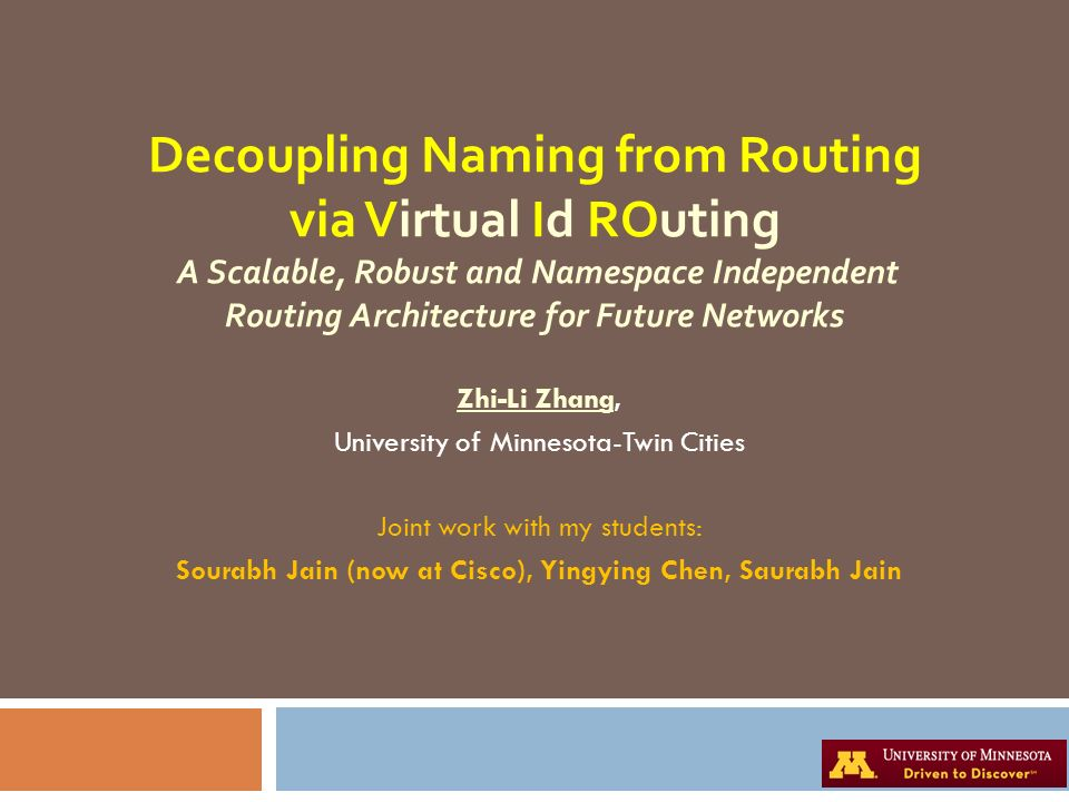Sourabh Jain (now at Cisco), Yingying Chen, Saurabh Jain