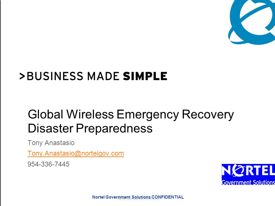 Global Wireless Emergency Recovery Disaster Preparedness