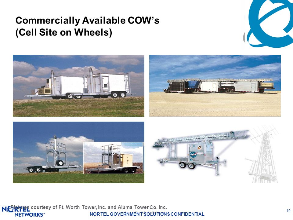 Commercially Available COW's (Cell Site on Wheels)